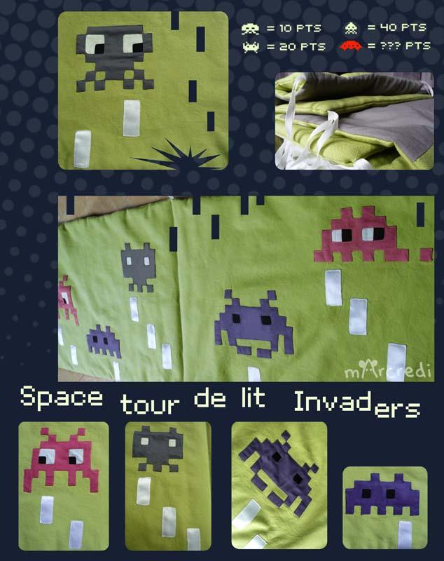 tour de lit space invaders blog