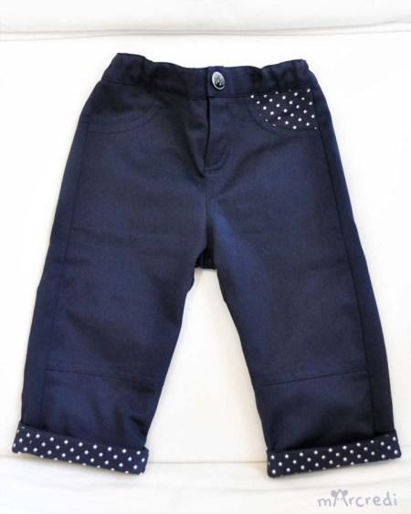 pants navy hem