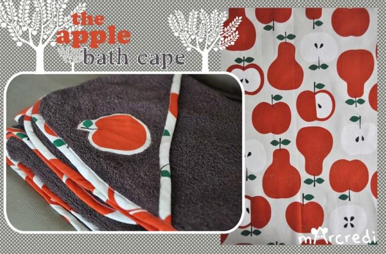 cape de bain pomme