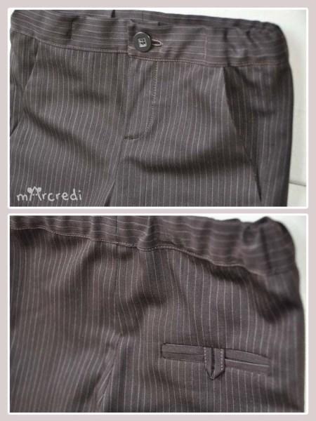 pants rayures pockets