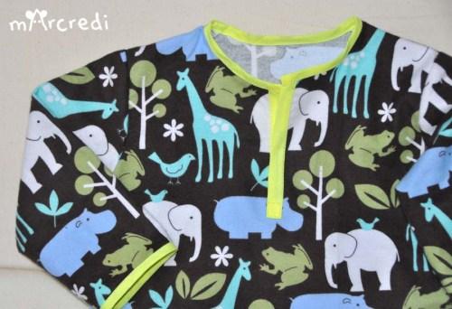 pyjama savane top detail