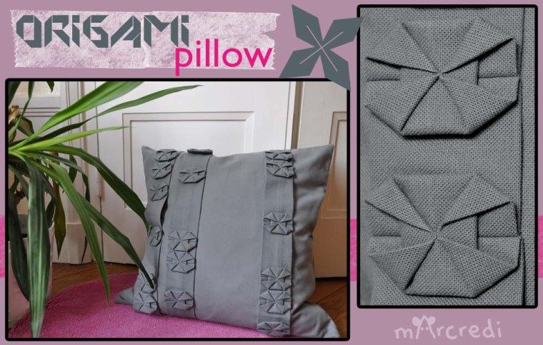 coussin origami