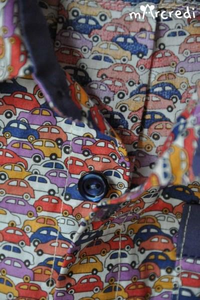 chemise voiture bouton