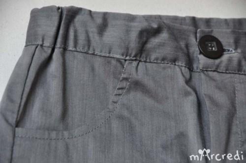 short chemise poche