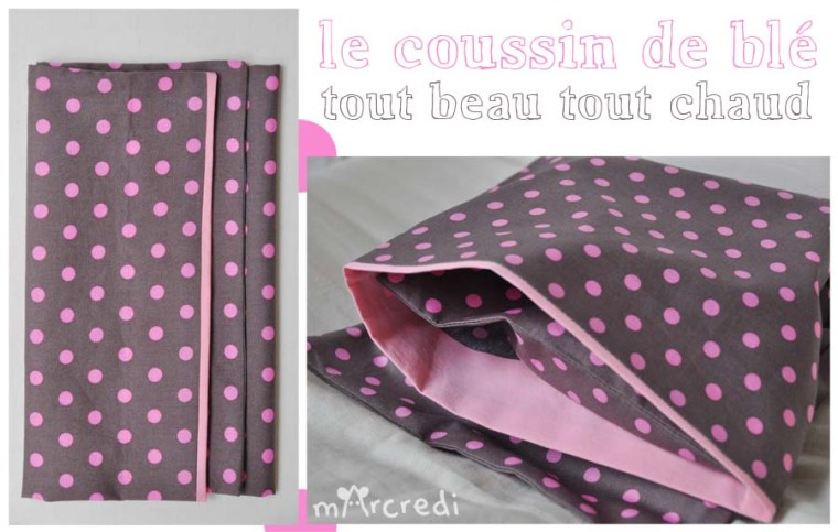 coussin ble rose