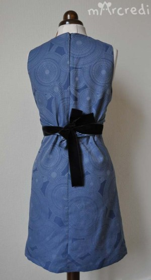 robe noeud jacquard back