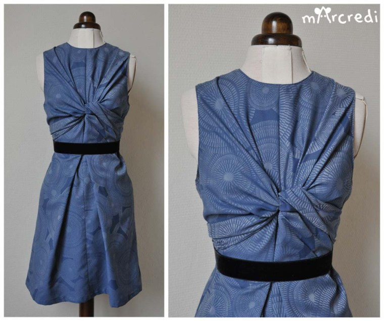 robe noeud jacquard front