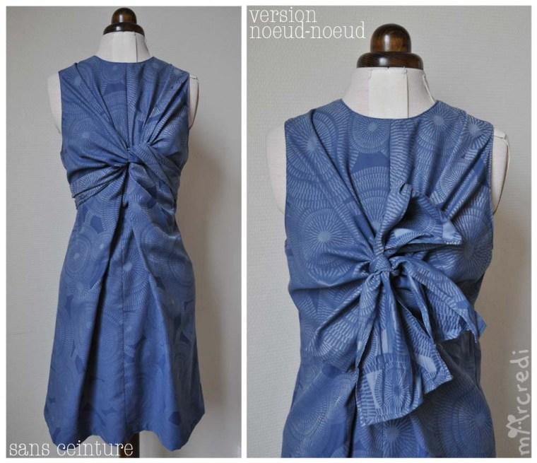 robe noeud jacquard multi