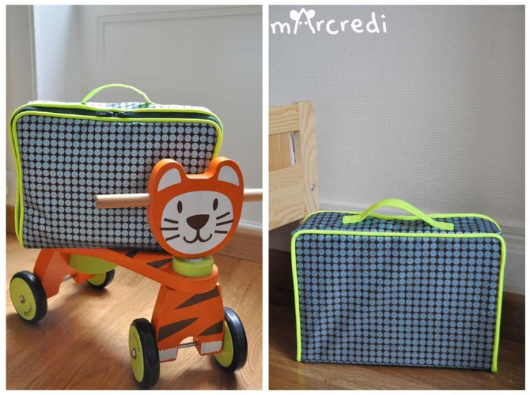 valise pois neon front back