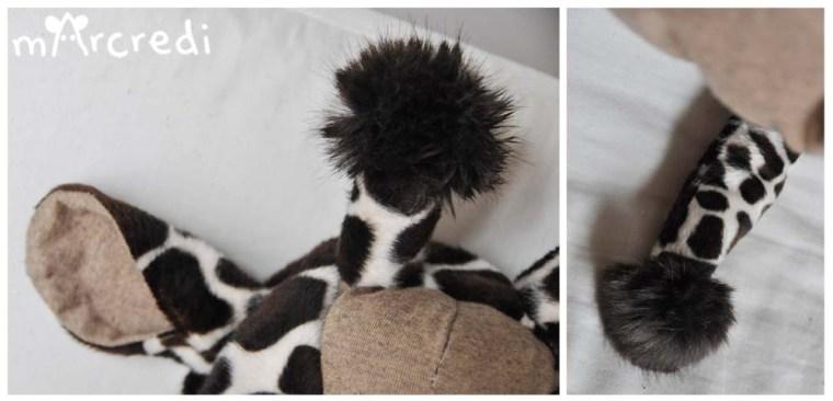 costume girafe details pompons
