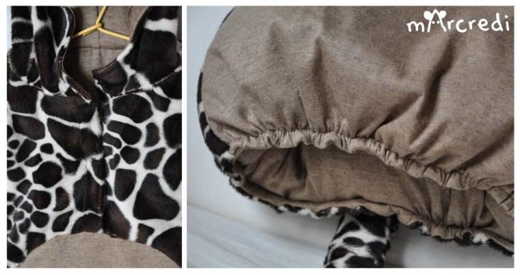 costume girafe details ventre