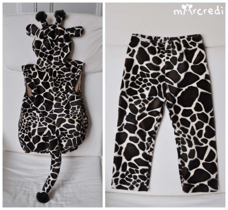 costume girafe dos