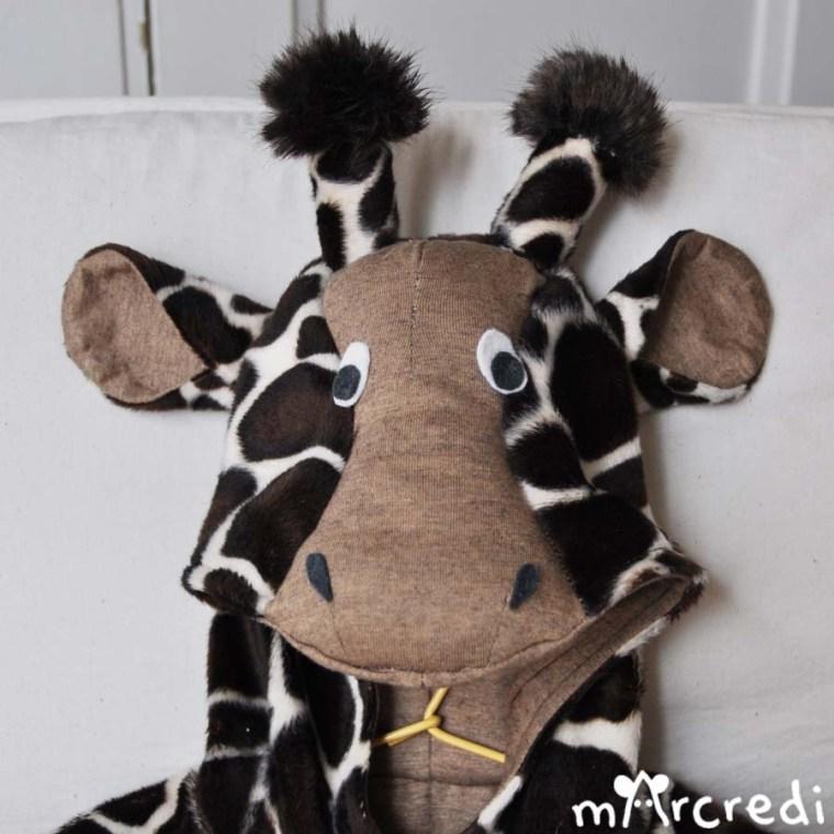 costume girafe tete