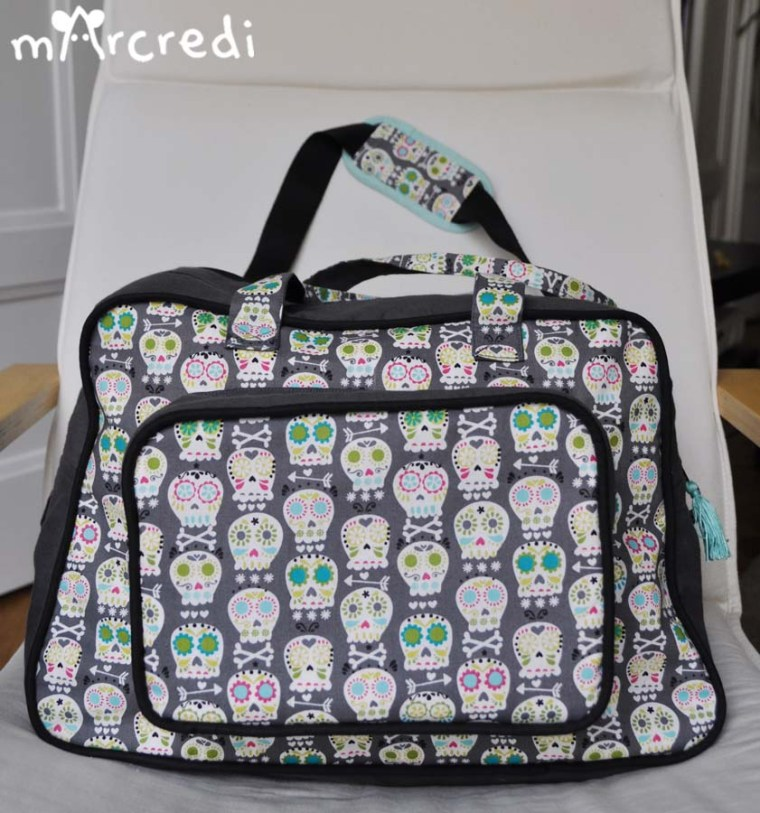 sac a langer mexican skulls front