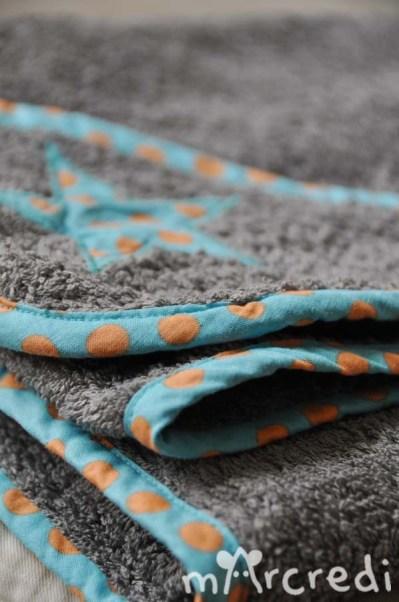 cape de bain pois bleu fold