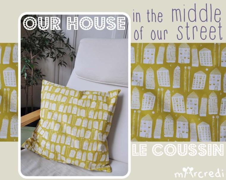 coussin maison moutarde