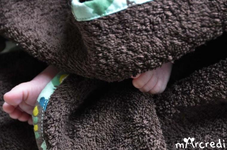 cape bain chouette pieds