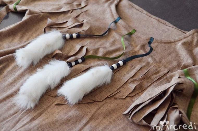 costume indienne plastron