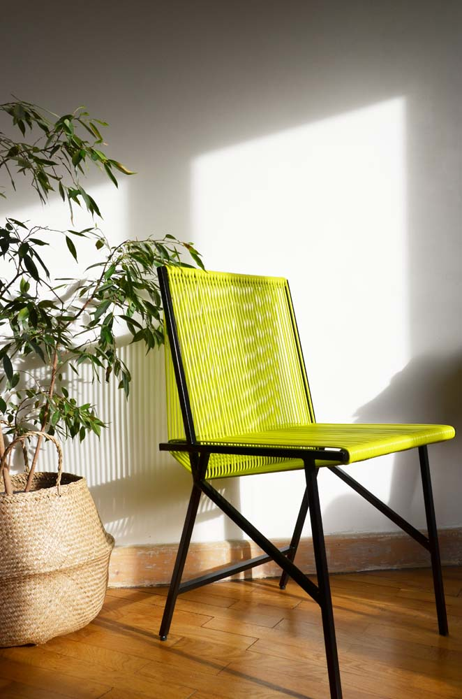 chaise jaune bensimon