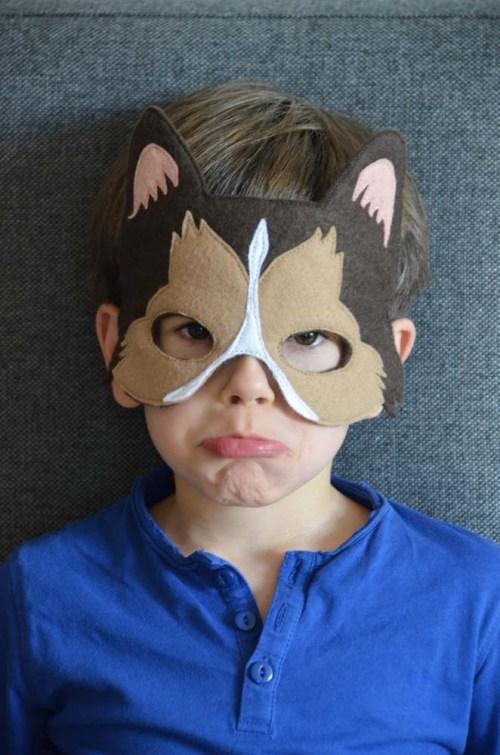 masque chien colley