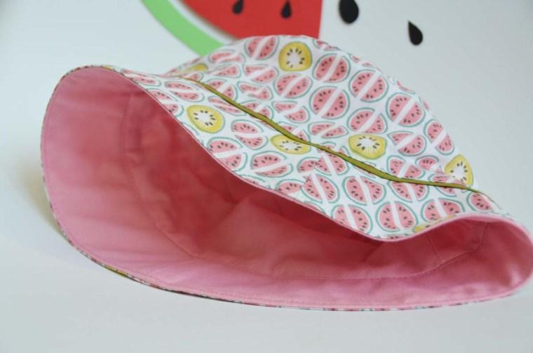 chapeau pastèque doublé