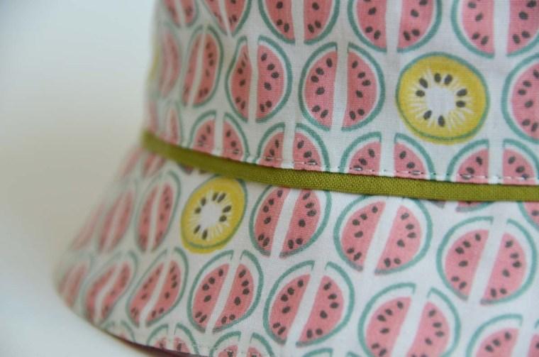 chapeau pastèque passepoil
