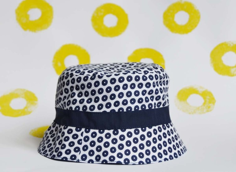chapeau rond navy