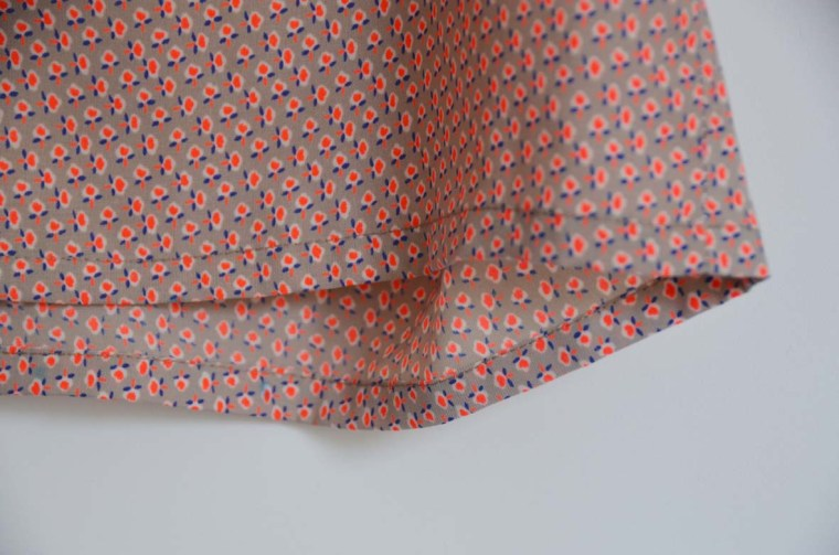 robe upcycling ourlet top