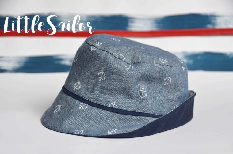 chapeau chambray ancre side