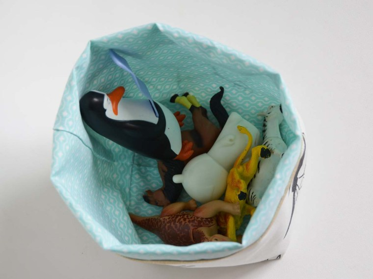 vide poche origami oiseau bleu
