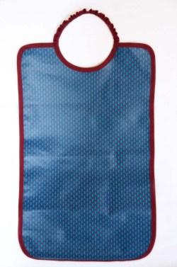 bavoir grand bleu mini motif