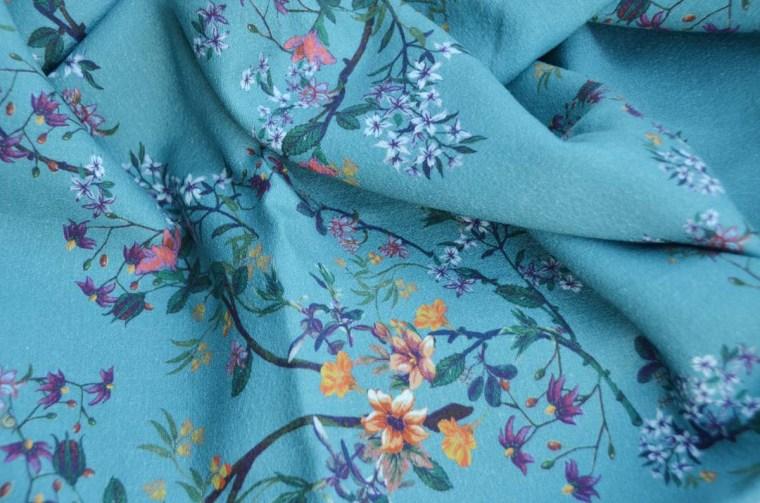 tissu fleurs chinoiserie