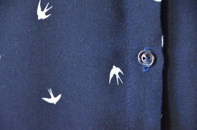 blouse parisette bouton nacre hirondelles
