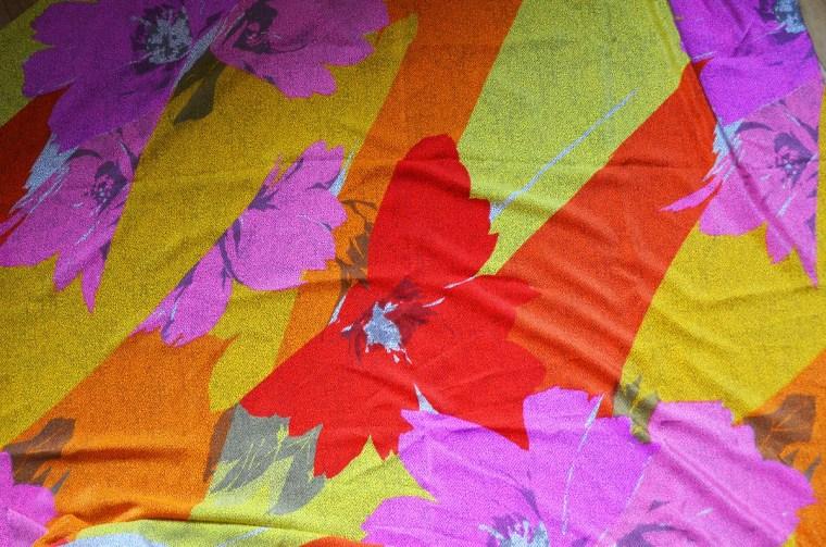 tissu soie fleurs lyon